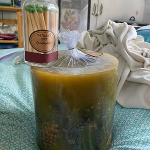 NWT Pine Candle & Matches